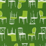 Perfectly Perched 12851-7 Green Chairs by Robert Kaufman