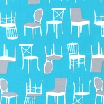 Perfectly Perched 12851-81 Turquoise Chairs by Robert Kaufman