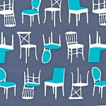 Perfectly Perched 12851-185 Steel Chairs by Robert Kaufman