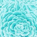 French Journal CX4350 Aqua Petals by London Portfolio - Michael Miller