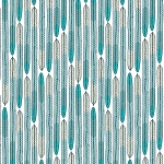 Biology Organic 126703 Turquoise Plumes by Sarah Watson for Cloud 9