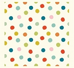 Mod Basics 3 Organic MB3-03 Multi Pop Dots by Birch Fabrics