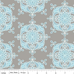 Priscilla C3364 Blue Wallpaper by Lila Tueller for Riley Blake