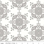 Priscilla C3364 Gray Wallpaper by Lila Tueller for Riley Blake EOB