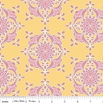 Priscilla C3364 Yellow Wallpaper by Lila Tueller for Riley Blake