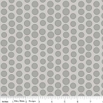 Priscilla C3365 Gray Dot by Lila Tueller for Riley Blake