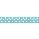 "Dots Grosgrain Ribbon 3/8"" Aqua by Riley Blake"