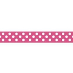 "Dots Grosgrain Ribbon 3/8"" Hot Pink by Riley Blake"