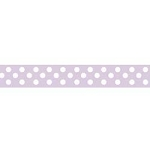 "Dots Grosgrain Ribbon 3/8"" Lavender by Riley Blake"