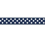"Dots Grosgrain Ribbon 3/8"" Navy by Riley Blake"