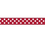 "Dots Grosgrain Ribbon 3/8"" Red by Riley Blake"