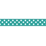 "Dots Grosgrain Ribbon 3/8"" Teal by Riley Blake"