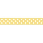 "Dots Grosgrain Ribbon 3/8"" Yellow by Riley Blake"