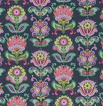 Bright Heart PWAB146 Midnight Folk Bloom by Amy Butler for Free Spirit