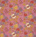 Folk Song PWAH089 Berry Packed Floral by Free Spirit
