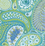 Haute Girls PWDF206 Aqua Paisley by Dena Fishbein for Free Spirit