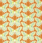 Clementine PWHB055 Tangerine Flutterby by Heather Bailey for Free Spirit