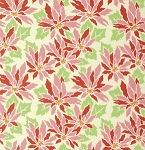 Ginger Snap PWHB060 Cream Poinsettia by Heather Bailey for Free Spirit