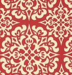 Ginger Snap PWHB062 Red Snowflake by Heather Bailey for Free Spirit