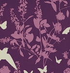 Bungalow PWJD070 Lavender Swallow Study by Joel Dewberry-Free Spirit