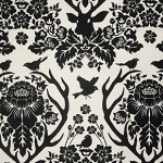 Birch Farm PWJD089 Black Antler Damask by Free Spirit