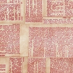 Eclectic Elements PWTH008 Red Dictionary by Tim Holtz for Coats