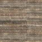 Eclectic Elements PWTH017 Brown Rulers by Tim Holtz for Coats