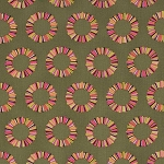 Acacia PWTP041 Olive Pineapple Slices by Tula Pink for Free Spirit