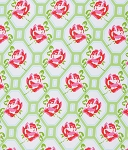 Sugar Hill PWTW046 Green Rose Trellis by Tanya Whelan for Free Spirit