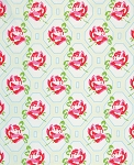 Sugar Hill PWTW046 Ivory Rose Trellis by Tanya Whelan for Free Spirit