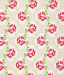 Sugar Hill PWTW046 Pink Rose Trellis by Tanya Whelan for Free Spirit