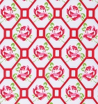 Sugar Hill PWTW046 Red Rose Trellis by Tanya Whelan for Free Spirit