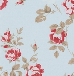 Petal PWTW058 Blue Scattered Roses by Tanya Whelan for Free Spirit