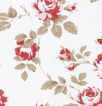 Petal PWTW058 Ivory Scattered Roses by Tanya Whelan for Free Spirit