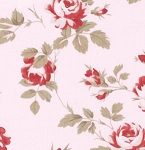 Petal PWTW058 Pink Scattered Roses by Tanya Whelan for Free Spirit EOB