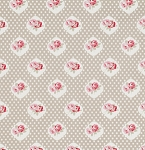 Petal PWTW059 Taupe Sweetie Rose by Tanya Whelan for Free Spirit
