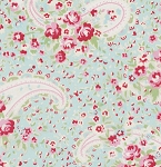 Rosey PWTW063 Teal Paisley Rose by Tanya Whelan for Free Spirit