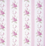 Slipper Roses PWTW085 Pink Country Ticking by Free Spirit