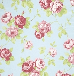 Lulu Roses PWTW092 Sky Lulu by Tanya Whelan for Free Spirit