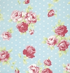 Lulu Roses PWTW093 Sky Lilly by Tanya Whelan for Free Spirit