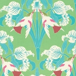 Chloe PWTW099 Green Birds by Tanya Whelan for Free Spirit