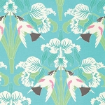 Chloe PWTW099 Sky Birds by Tanya Whelan for Free Spirit