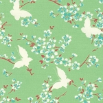 Chloe PWTW100 Green Butterfly by Tanya Whelan for Free Spirit