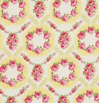 Rosewater PWVM111 Lemon Rose Wreath by Free Spirit