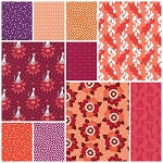 Rhoda Ruth 10 Fat Quarter Set in Blossom by Robert Kaufman