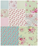 Rosey 10 Fat Quarter Set by Tanya Whelan for Free Spirit