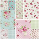 Rosey 11 Fat Quarter Set by Tanya Whelan for Free Spirit