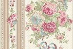 RURU Bouquet RU2200-12A Ecru Border Stripe by Quilt Gate