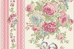 RURU Bouquet RU2200-12B Pink Border Stripe by Quilt Gate