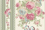 RURU Bouquet RU2200-12C Green Border Stripe by Quilt Gate